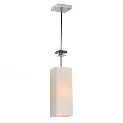 Aurora Lighting 1-Light Incandescent Pendant - Polished Steel (STL-LTR450993)