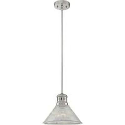 Aurora Lighting 1-Light Incandescent Pendant - Polished Steel (STL-LTR461722)