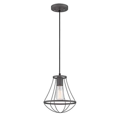 Aurora Lighting 1-Light Incandescent Pendant - Wrought Iron (STL-LTR463870)