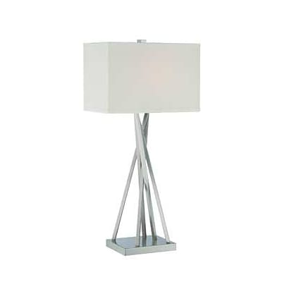 Aurora Lighting CFL Table Lamp - Polished Steel (STL-LTR460015)