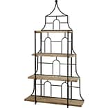 A&B Home French Chic Garden 87 Etagere Bookcase