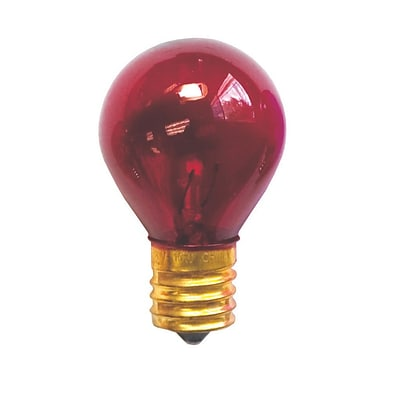 Bulbrite INC S11 10W Dimmable Transparent Red 25PK (702710)
