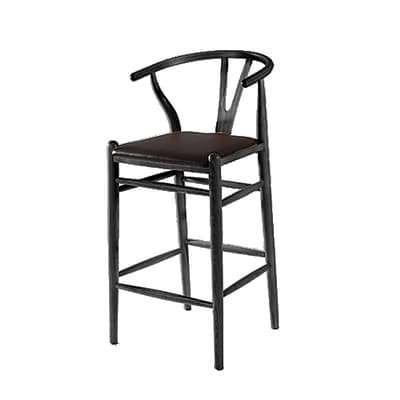 Fine Mod Imports Woodstring Bar Stool Chair, Black (FMI10030-black)