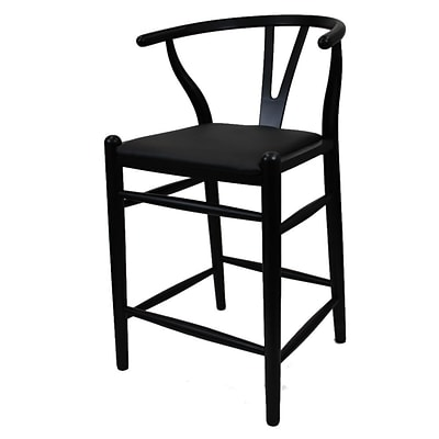 Fine Mod Imports Woodstring Counter Chair, Black (FMI10031-black)