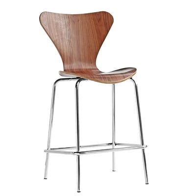 Fine Mod Imports Jays Counter Stool, Walnut (FMI10051-walnut)