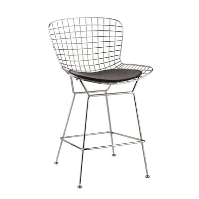 Fine Mod Imports Wire Counter Height Chair, Black (FMI2126-black)