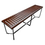 Fine Mod Imports Solid Bench 60, Brown (FMI10162-brown)