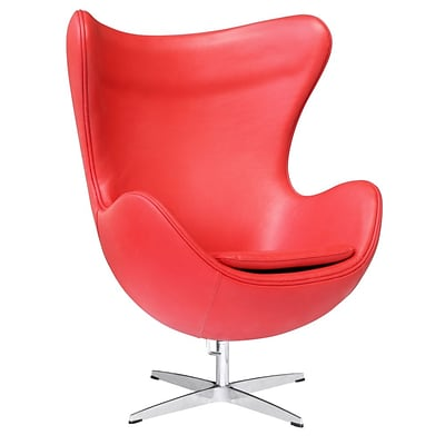 Fine Mod Imports Inner Chair Leather, Red (FMI1131-red)