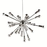 Fine Mod Imports Spark Hanging Chandelier 23, Silver (FMI8010-23-silver)