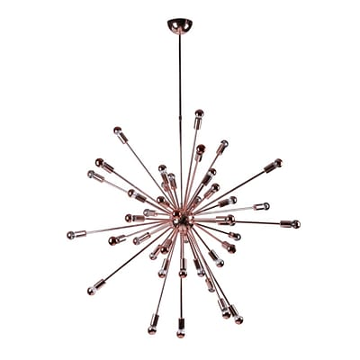 Fine Mod Imports Spark Hanging Chandelier 39, Copper (FMI8010-39-copper)
