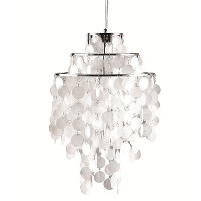 Fine Mod Imports Pearl Hanging Chandelier, Mother of Pearl (FMI9279-pearl)
