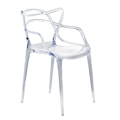 Fine Mod Imports Brand Name Dining Chair, Clear (FMI10067-clear)