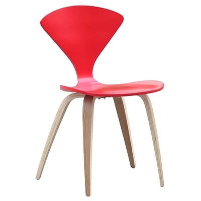 Fine Mod Imports Wooden Side Chair, Red (FMI10202-red)