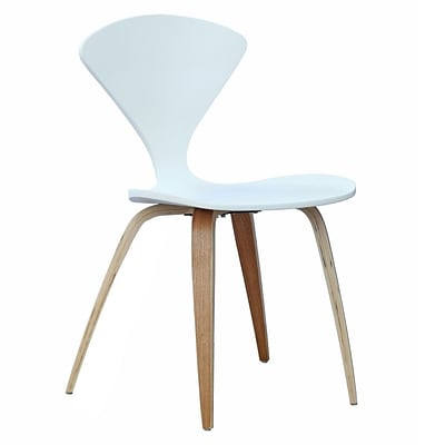 Fine Mod Imports Wooden Side Chair, White (FMI10202-white)
