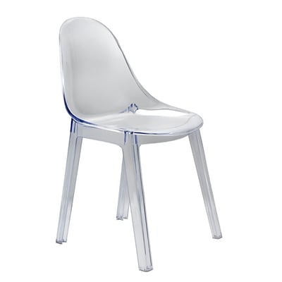 Fine Mod Imports Clearma Dining Chair, Clear (FMI10203-clear)