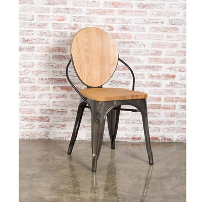 Fine Mod Imports Metal Dining Chair, Natural (FMI10230-natural)