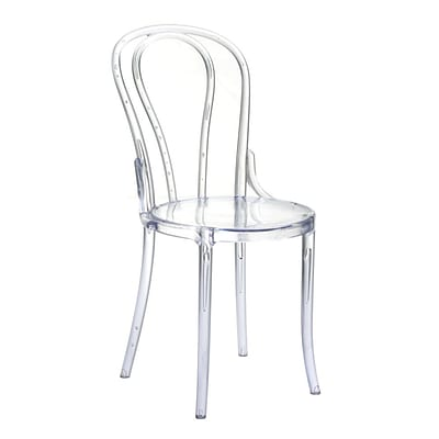 Fine Mod Imports Spin Clear Chair, Clear (FMI10237-clear)