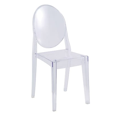Fine Mod Imports Clear Side Chair, Clear (FMI1127-clear)