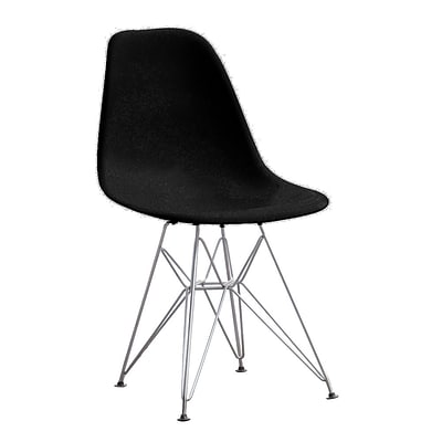 Fine Mod Imports WireLeg Dining Side Chair, Black (FMI2011-black)