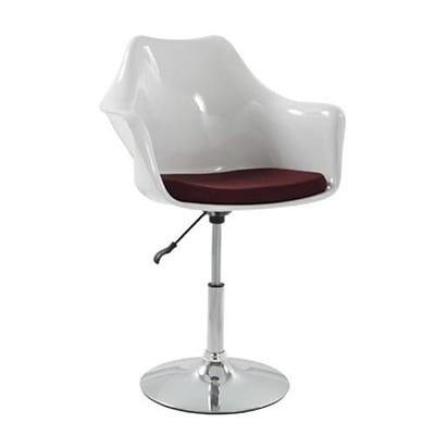 Fine Mod Imports Lilly Arm Chair, White (FMI2128-white)