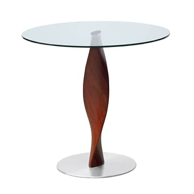 Fine Mod Imports Edge Dining Table 36, Clear (FMI9222-36-clear)