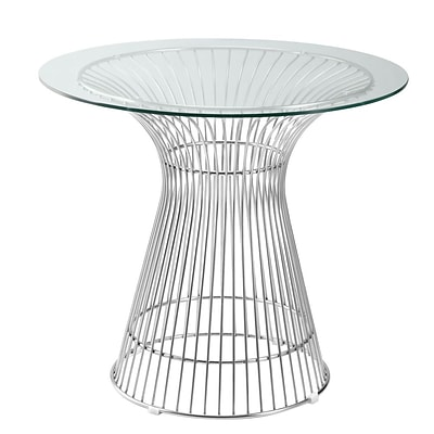 Fine Mod Imports Libo Dining Table 36, Clear (FMI9230-36-clear)