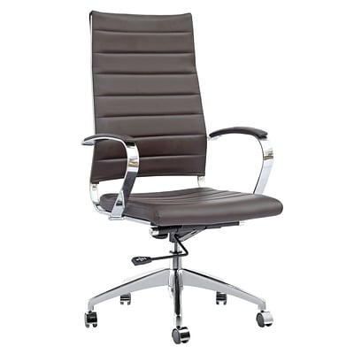 Fine Mod Imports Sopada Conference Office Chair High Back, Dark Brown (FMI10078-dark brown)