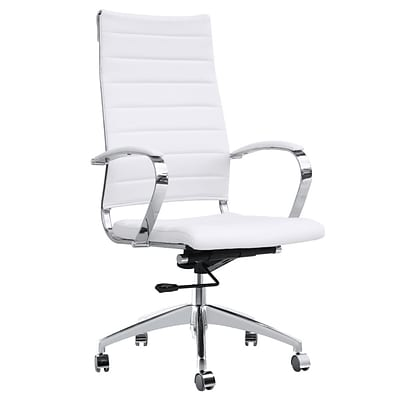 Fine Mod Imports Sopada Conference Office Chair High Back, White (FMI10078-white)