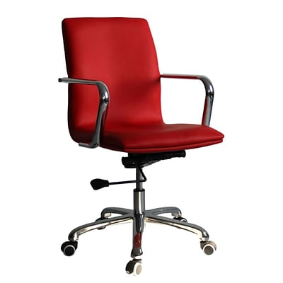 Fine Mod Imports Confreto Conference Office Chair Mid Back, Red (FMI10170-red)