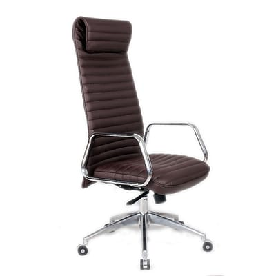 Fine Mod Imports Ox Office Chair High Back, Dark Brown (FMI10178-dark brown)