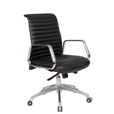 Fine Mod Imports Ox Office Chair Mid Back, Black (FMI10179-black)