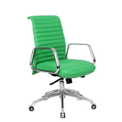 Fine Mod Imports Ox Office Chair Mid Back, Green (FMI10179-green)