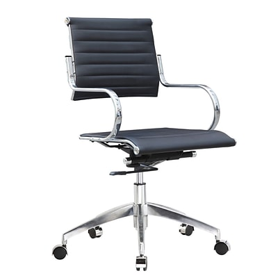 Fine Mod Imports Flees Office Chair Mid Back, Black (FMI10209-black)
