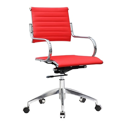 Fine Mod Imports Flees Office Chair Mid Back, Red (FMI10209-red)