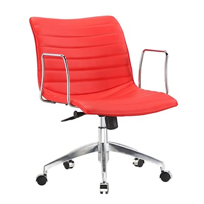 Fine Mod Imports Comfy Office Chair Mid Back, Red (FMI10224-red)