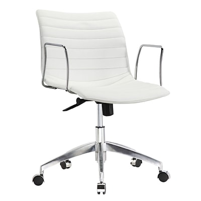 Fine Mod Imports Comfy Office Chair Mid Back, White (FMI10224-white)