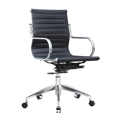 Fine Mod Imports Twist Office Chair Mid Back, Black (FMI10226-black)