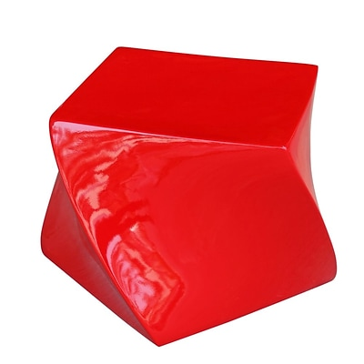 Fine Mod Imports Cube Ottoman, Red (FMI1148-red)