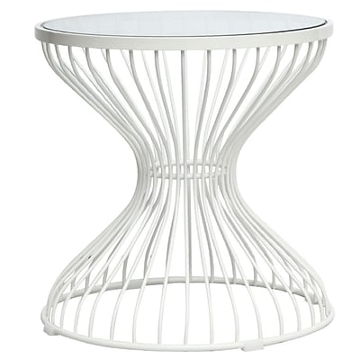 Fine Mod Imports Squeezed Side Table, Glass (FMI10083-glass)