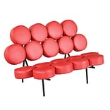 Fine Mod Imports Circle Sofa, Red (FMI1121-red)
