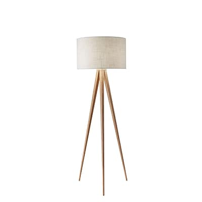 Adesso Director Floor Lamp, Natural (6424-12)