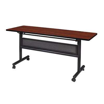 Regency Kobe Flip Top with Modesty Panel 60 x 24 Metal and Wood Training Table, Cherry (MKFTM6024CH)