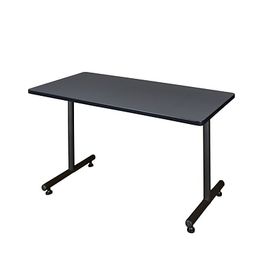 Regency Kobe 42 x 24 Metal and Wood Training Table, Grey (MKTRCT4224GY)