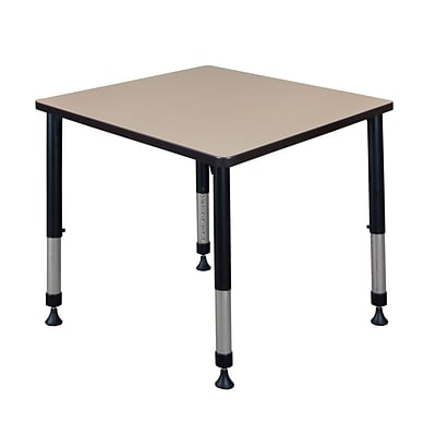 Regency Height Adjustable Kee 30 Square Classroom Table, Beige (TB3030BEAPBK)