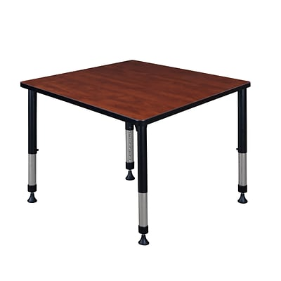 Regency Height Adjustable Kee 36 Square Classroom Table, Cherry (TB3636CHAPBK)