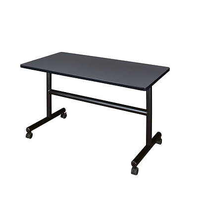 Regency Kobe Flip Top 48 x 30 Metal and Wood Training Table, Grey (MKFT4830GY)