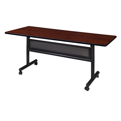 Regency Kobe Flip Top with Modesty Panel 60 x 30 Metal and Wood Training Table, Cherry (MKFTM6030CH)