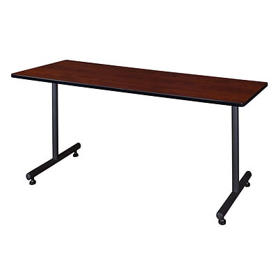 Regency Kobe 66 x 30 Metal and Wood Training Table, Cherry (MKTRCT6630CH)