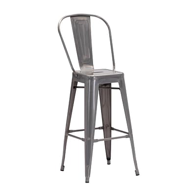 Zuo Modern Elio Bar Chair Gunmetal (Set of 2) (WC106120)