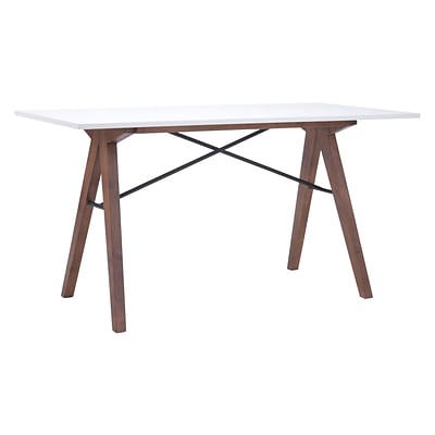 Zuo Modern Saints Desk Walnut & White (WC100147)